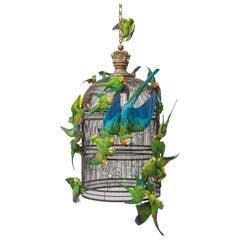 Fine Taxidermy Birdcage Extraordinaire by Sinke & Van Tongeren