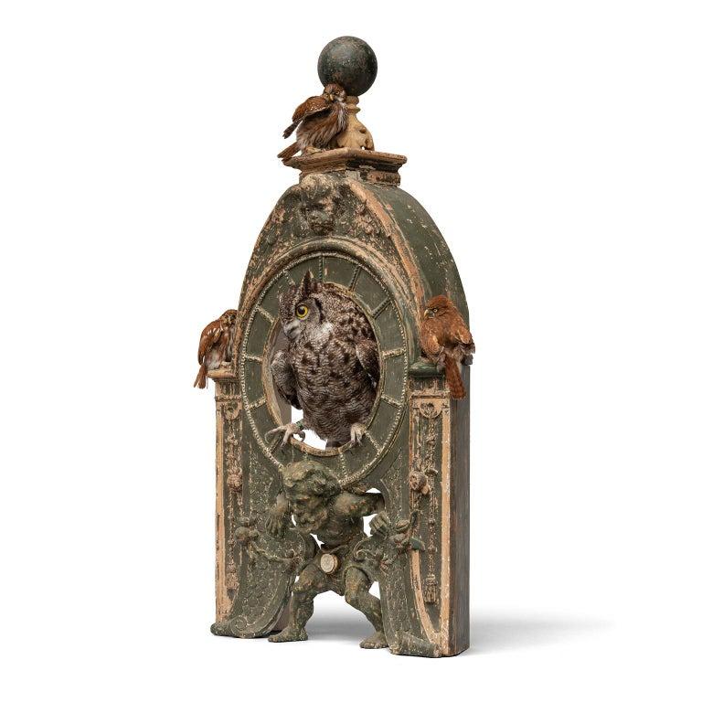 Fine Taxidermy Tower of Owls by Sinke & Van Tongeren For Sale 8