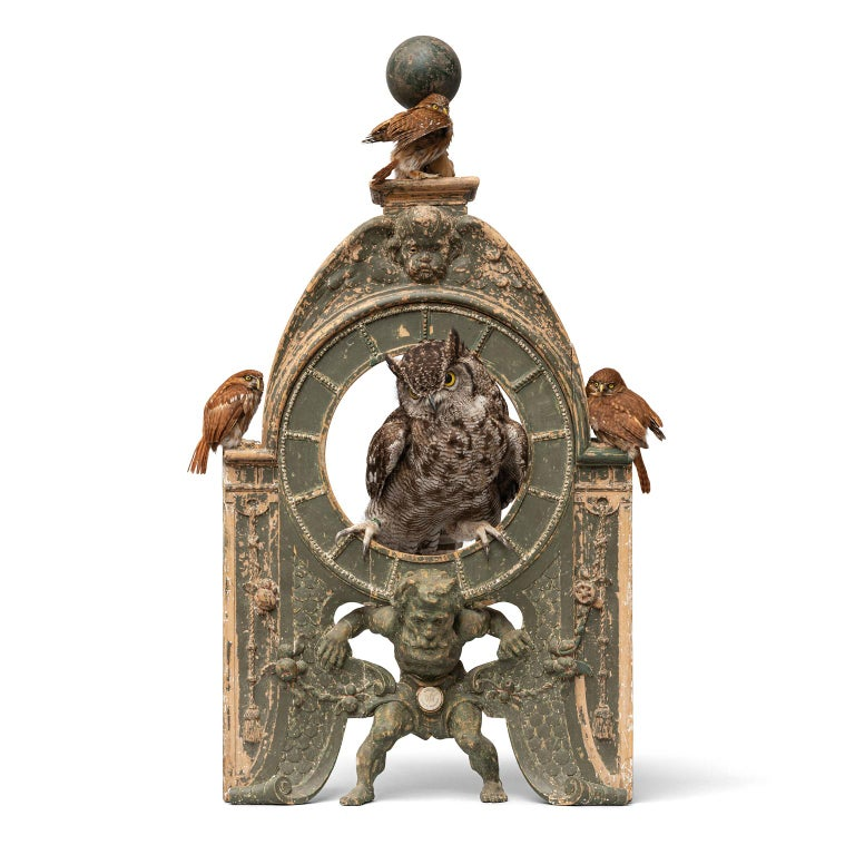 Fine Taxidermy Tower of Owls by Sinke & Van Tongeren For Sale 9