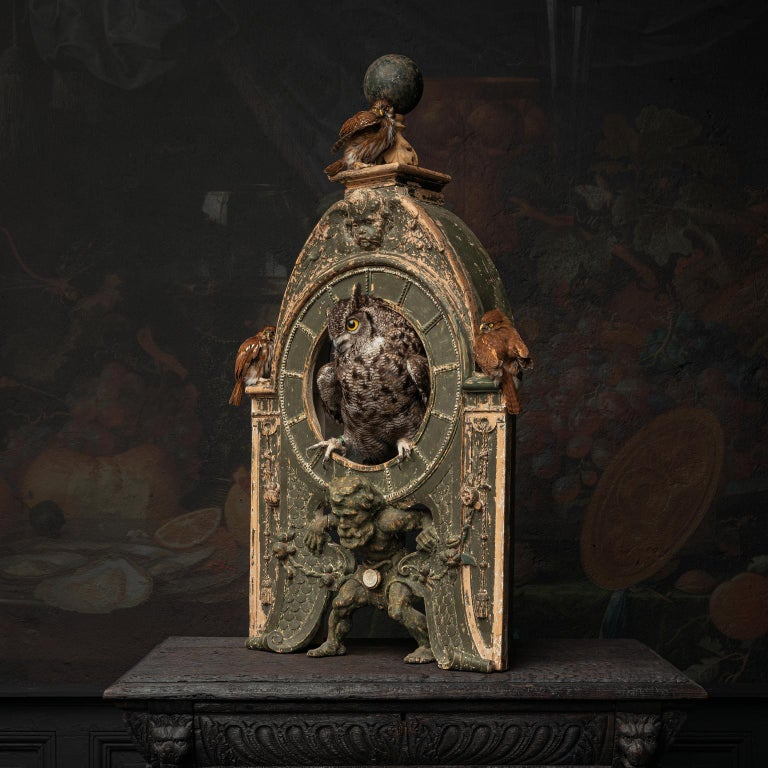 Victorian Fine Taxidermy Tower of Owls by Sinke & Van Tongeren For Sale