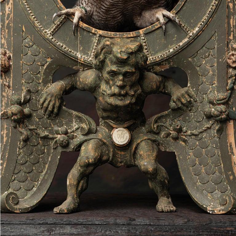 Fine Taxidermy Tower of Owls by Sinke & Van Tongeren For Sale 1