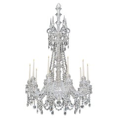 Fine Ten-Light Cut Glass Chandelier by F&C Osler
