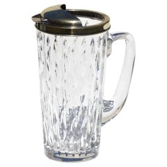 Fine Tiffany Silver Gilt Mounted Hawkes Glass Pitcher