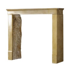 Fine Timeless Small Original French Antique Fireplace Surround in Limestone