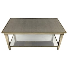 Fine Transition Midcentury Nickel Silvered Bronze Mirror Coffee Cocktail Table