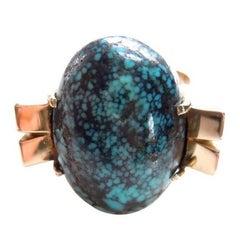 Fine Turquoise 14 Karat Ring