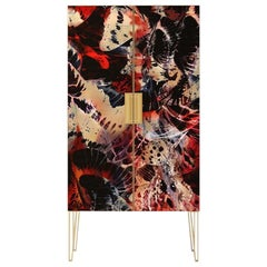 Fine Upholstered Contemporary Cabinet Made in England