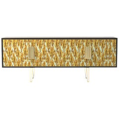 Fine Upholstered Contemporary Side Cabinet Made in England