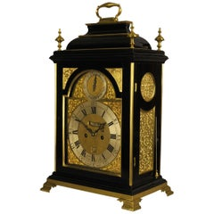 Fine Verge Bracket Clock with Alarm, Chater and Son, London