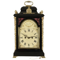Fine Verge Ebonized Bracket Clock, Joseph Wood, Bristol