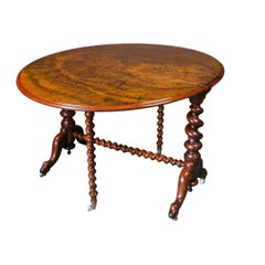 Fine Victorian Burl Walnut Sutherland Table