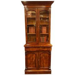 Fine Victorian Mahogany Narrow Bookcase, Made, circa 1860