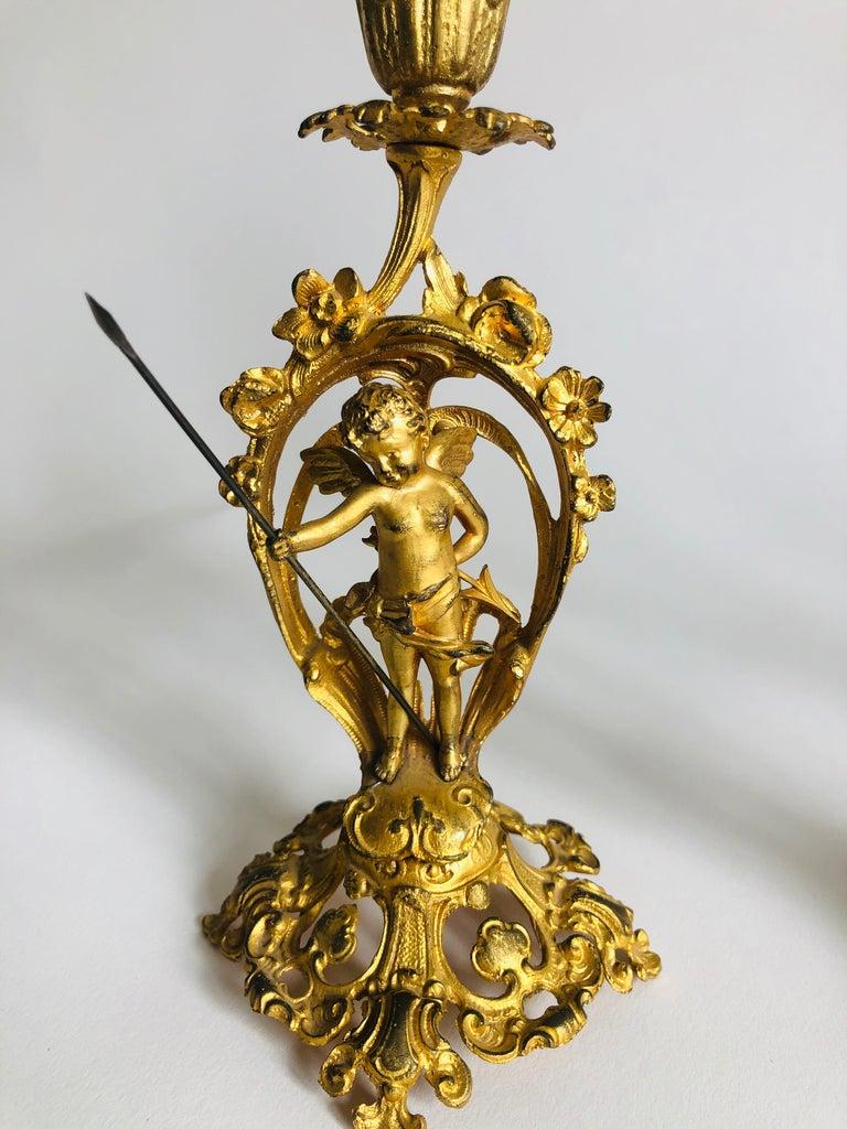Fine Victorian Ornate Gilded Clock Set In Good Condition For Sale In Norwich, GB