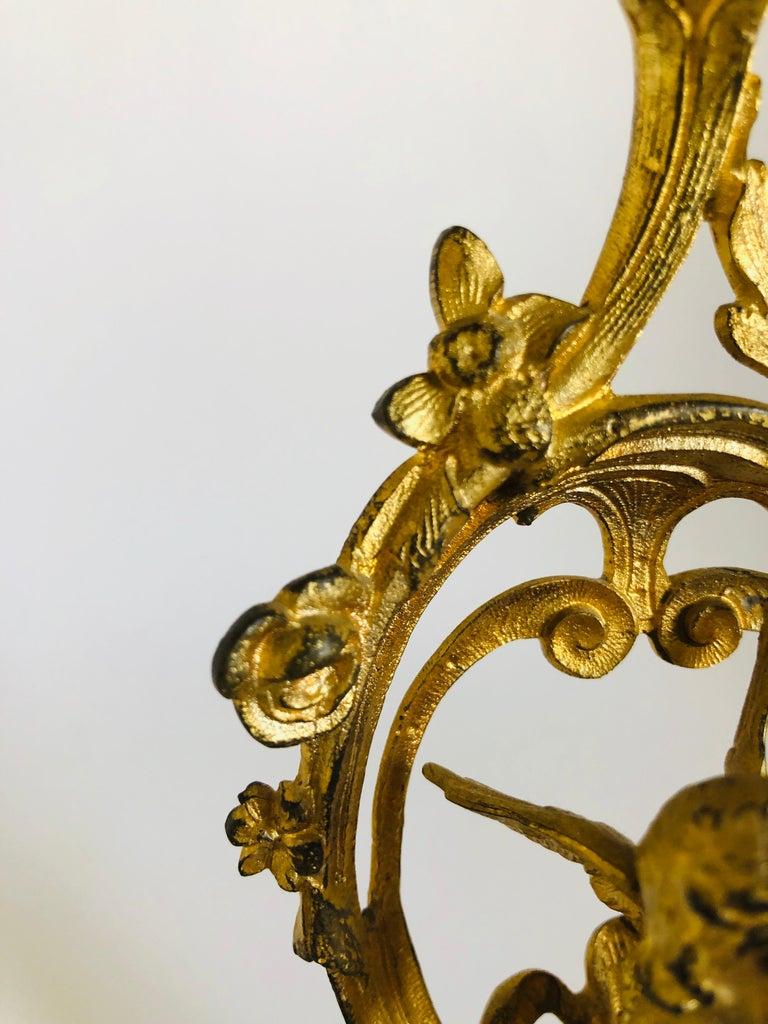 19th Century Fine Victorian Ornate Gilded Clock Set For Sale