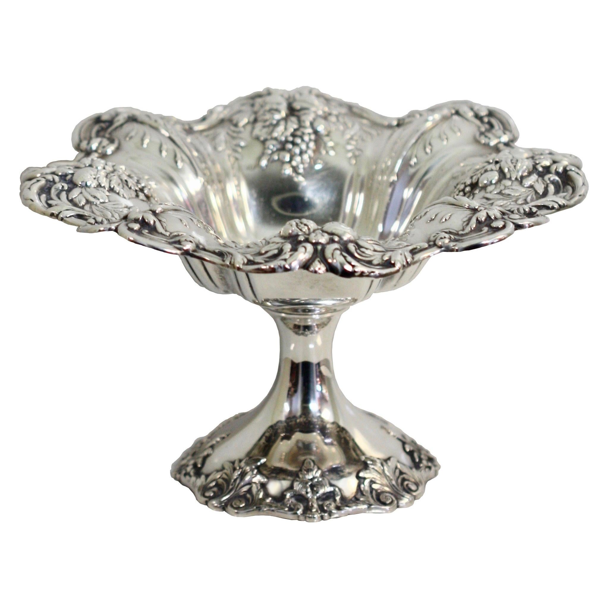 Fine Victorian Style Sterling Silver Compote