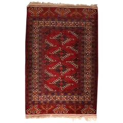 Fine Vintage Bokhara Russian Rug, Hand Knotted, circa 1940s