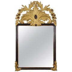 Fine Vintage Carved Giltwood and Ebonized Pier Wall Mirror