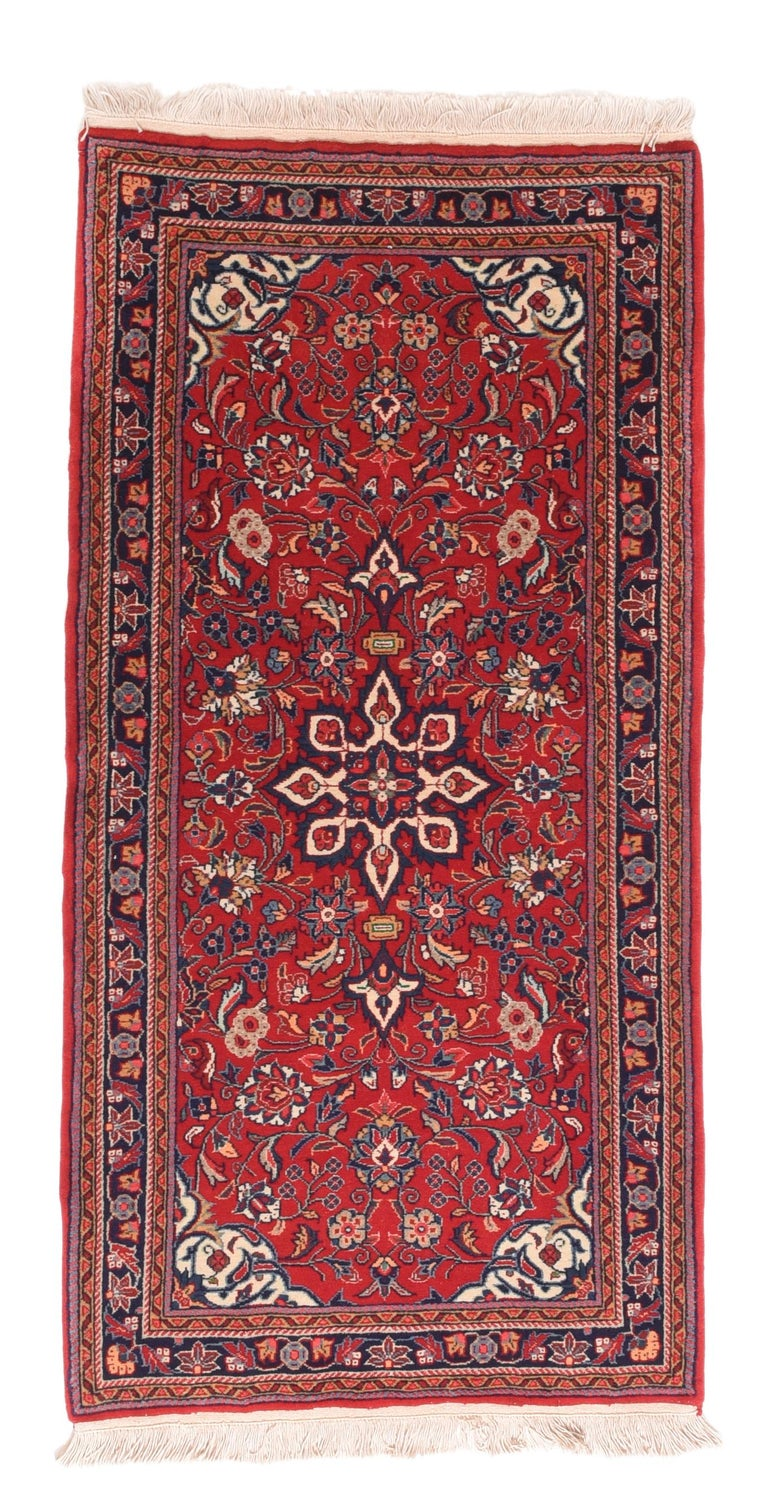 Hand-Knotted Fine Vintage Farahan Persian Rug, Hand Knotted, circa 1930s For Sale