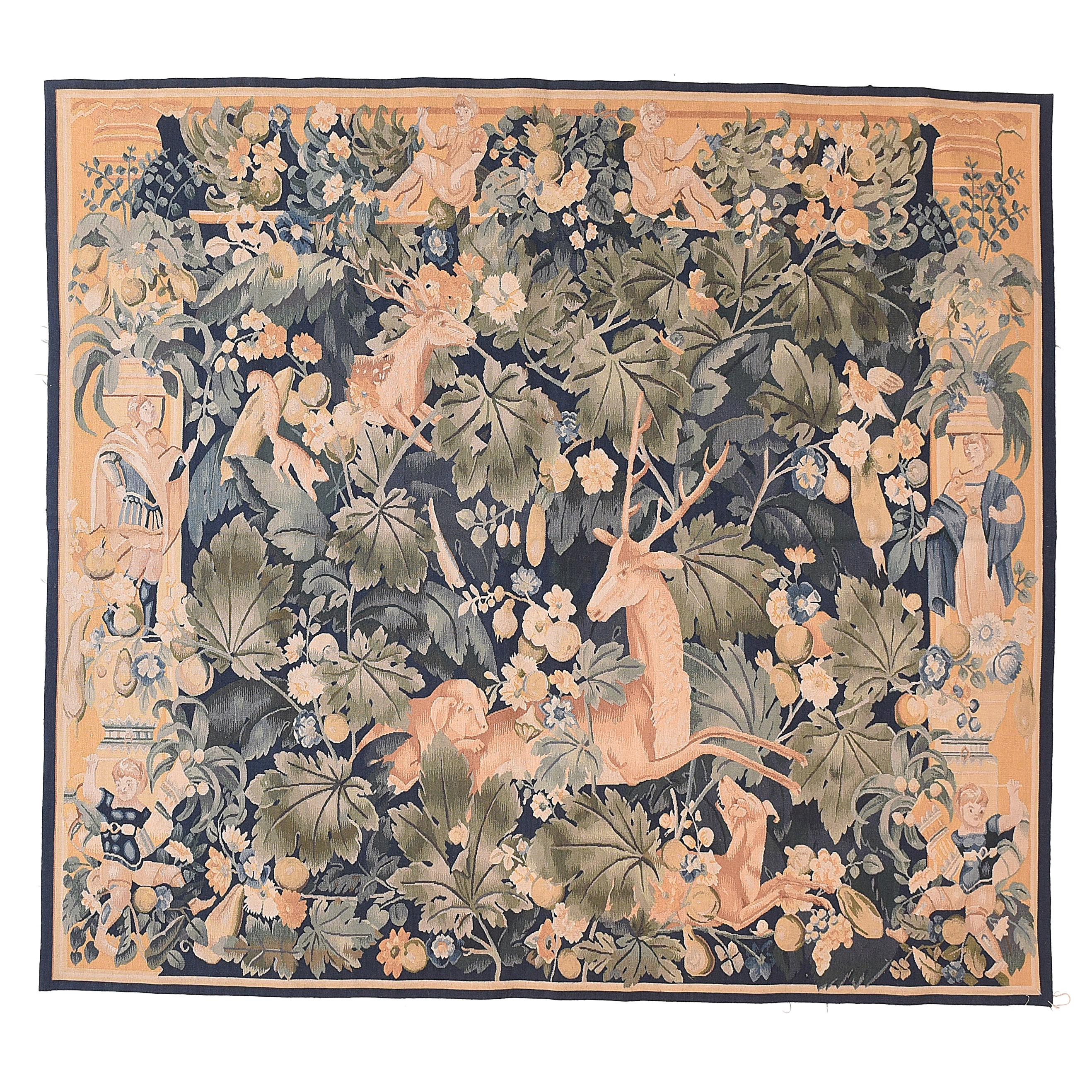Vintage French Tapestry, circa 20th Century