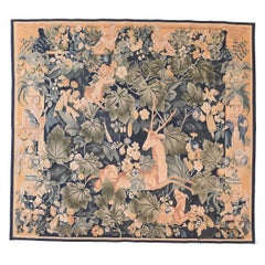 Fine Vintage French Pictorial Tapestry, Hand Knotted, circa 20th Century