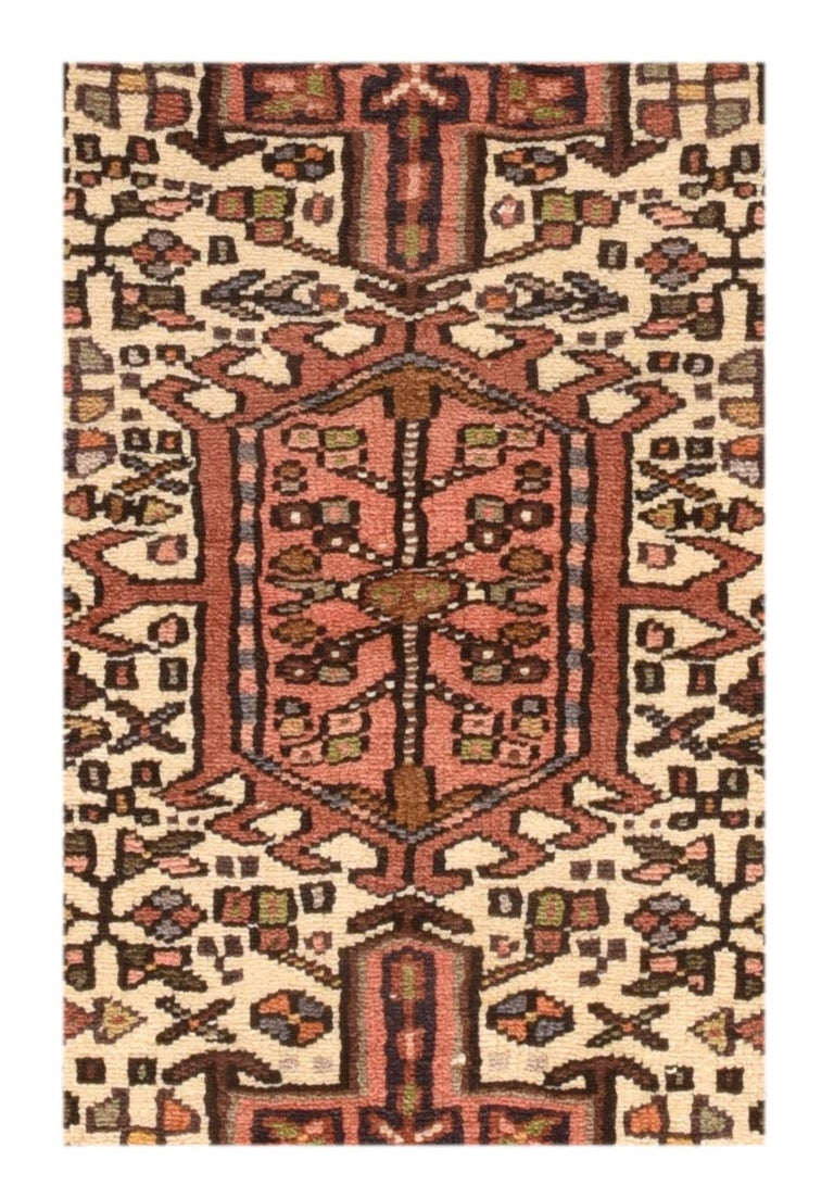 Fine vintage Karajeh Heriz Persian rug, hand knotted, circa 1950s
