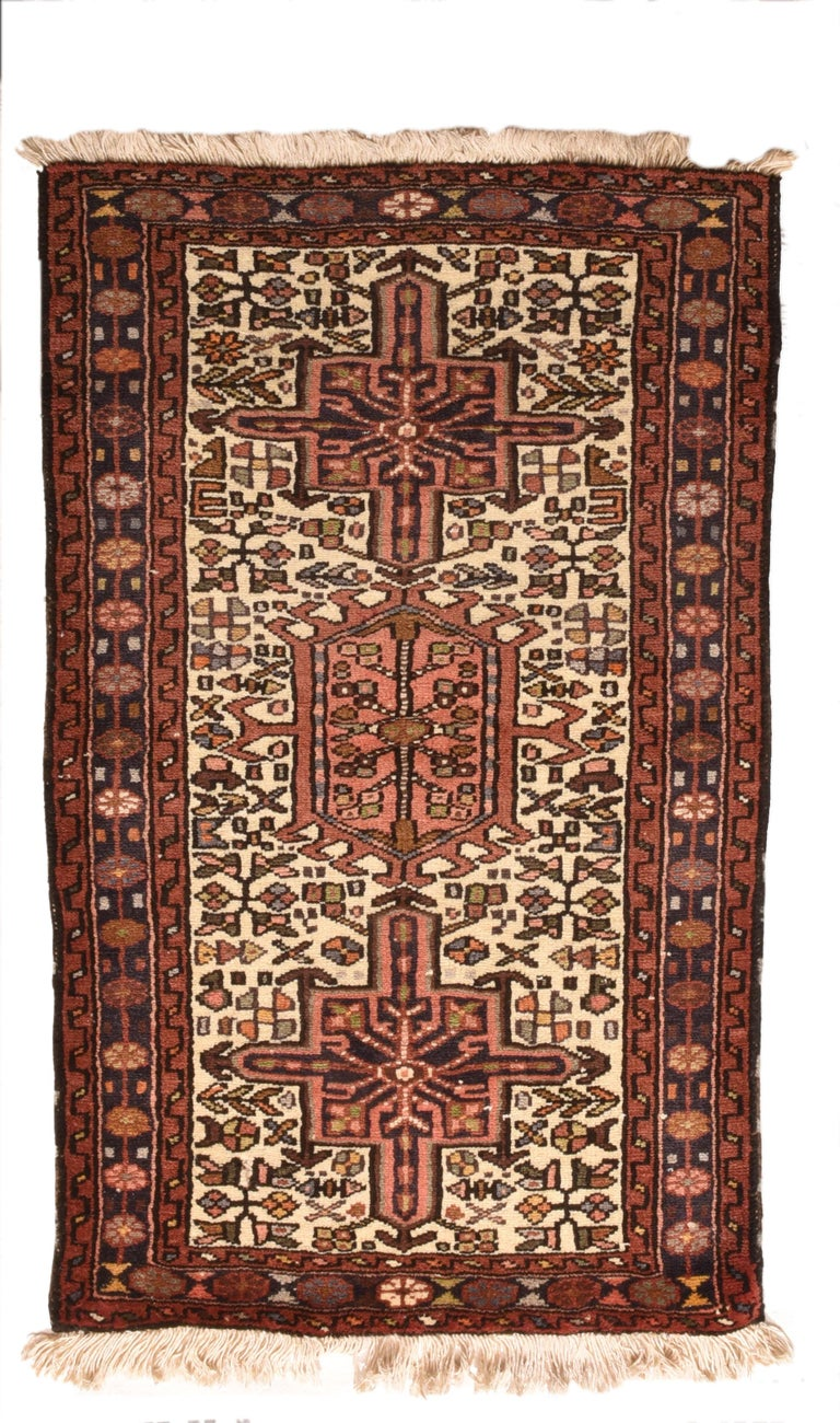 Hand-Knotted Fine Vintage Karajeh Heriz Persian Rug, Hand Knotted, circa 1950s For Sale