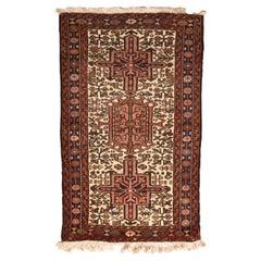 Fine Vintage Karajeh Heriz Persian Rug, Hand Knotted, circa 1950s