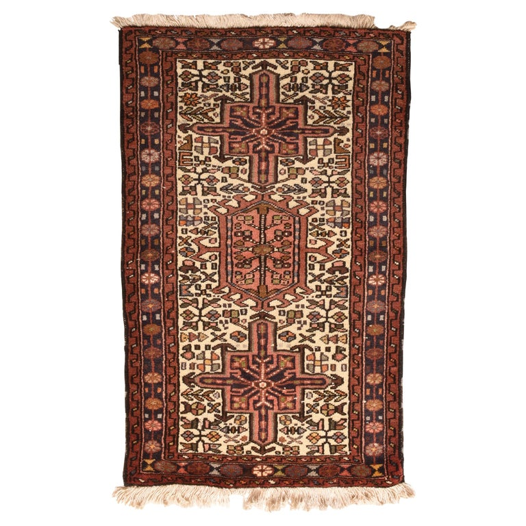 Fine Vintage Karajeh Heriz Persian Rug, Hand Knotted, circa 1950s For Sale