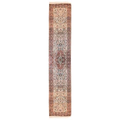 Fine Vintage Kashmiri Indian Runner Rug, Hand Knotted, circa 1970s