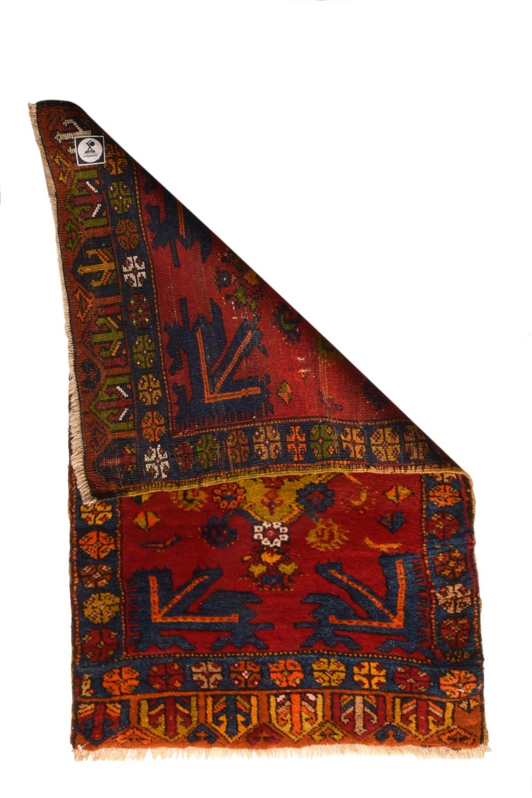Other Fine Vintage Konya Turkish Rug, Hand Knotted, circa 1950s For Sale