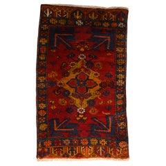 Fine Vintage Konya Turkish Rug, Hand Knotted, circa 1950s