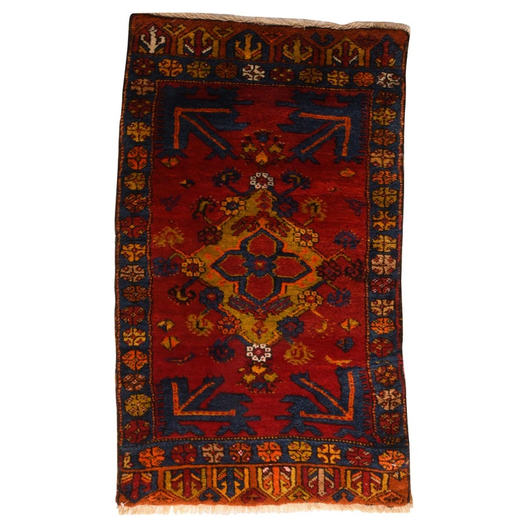Fine Vintage Konya Turkish Rug, Hand Knotted, circa 1950s For Sale