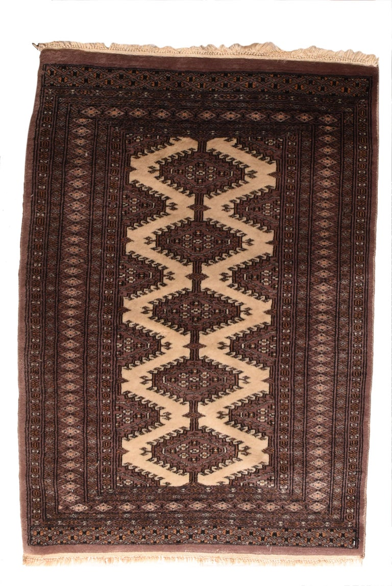 Fine Vintage Pak Bokhara Rug, Hand Knotted, circa 1950s For Sale 1