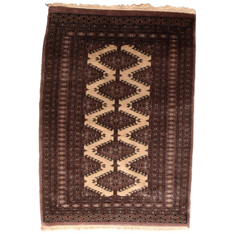 Fine Vintage Pak Bokhara Rug, Hand Knotted, circa 1950s For Sale
