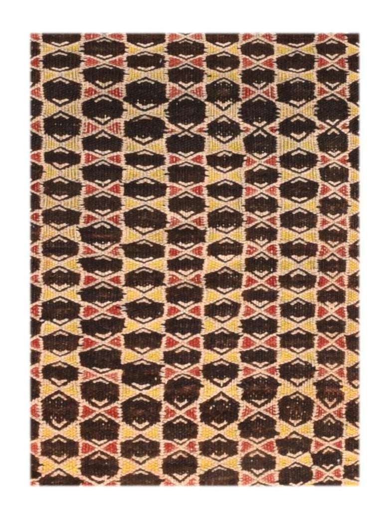Fine vintage Persian Balouch Tribal rug, hand knotted, circa 1950s  Design: All-over - Kilim  Baluchi carpets (also called Baluch or Beluchi carpets) are handmade carpets originally made by Baluch nomads, living near the border between Iran,