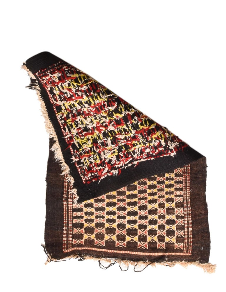 Fine Vintage Persian Balouch Tribal Rug, Hand Knotted, circa 1950s In Excellent Condition For Sale In Chevy Chase, MD