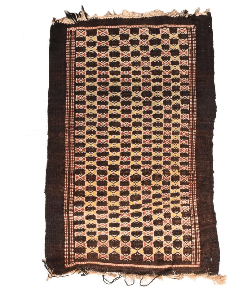 Fine Vintage Persian Balouch Tribal Rug, Hand Knotted, circa 1950s For Sale 1