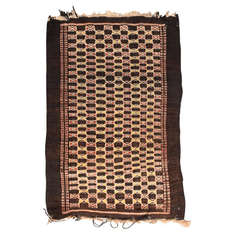 Fine Vintage Persian Balouch Tribal Rug, Hand Knotted, circa 1950s For Sale