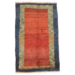 Fine Vintage Persian Gabbeh, Hand Knotted, circa 1950