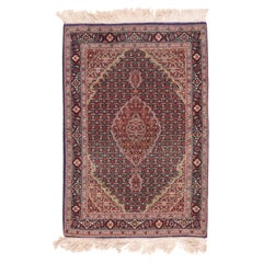 Fine Vintage Red Tabriz Persian Rug, Wool and Silk, Hand Knotted, circa 1970