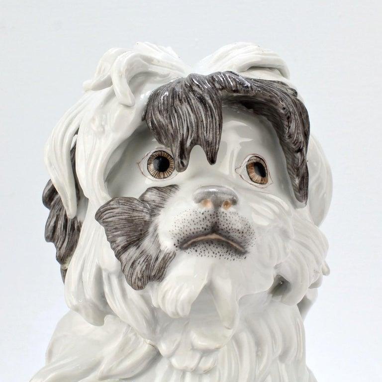 Fine Vintage Samson Porcelain Bolognese or Bichon Dog Figurine For Sale 4