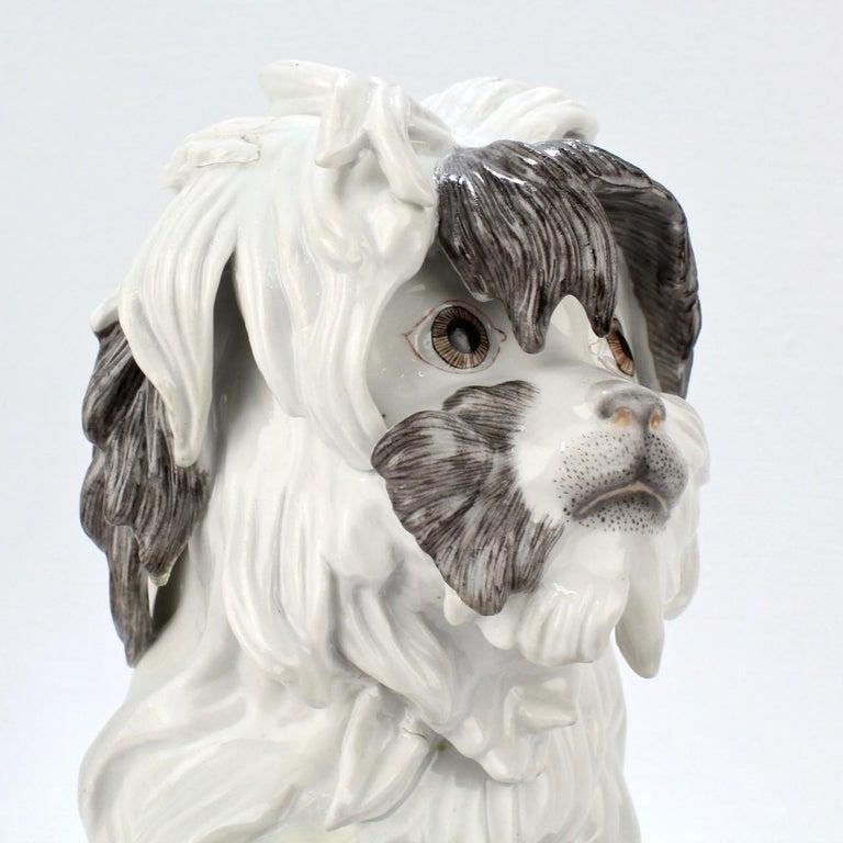 Fine Vintage Samson Porcelain Bolognese or Bichon Dog Figurine For Sale 5
