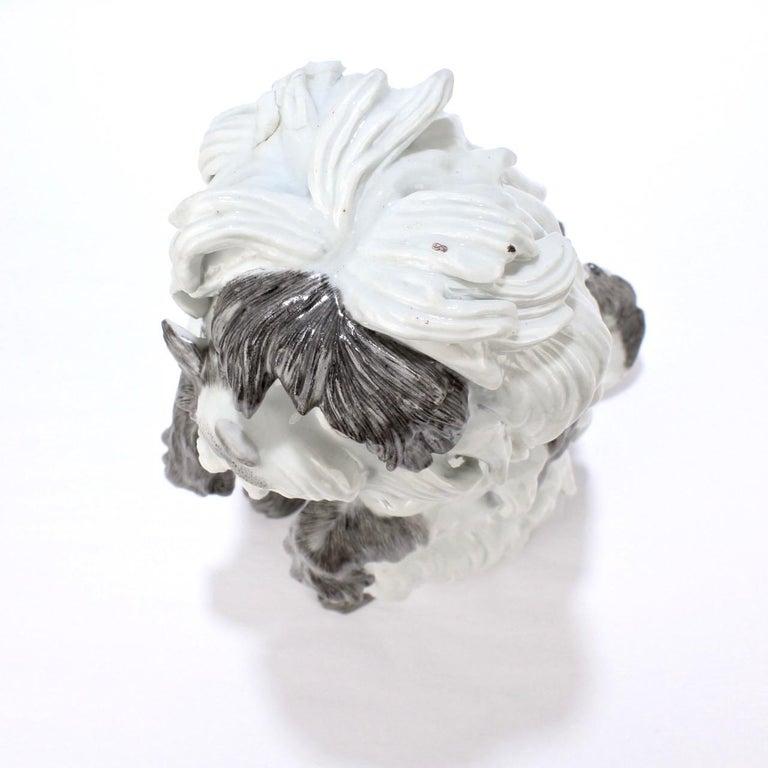 Fine Vintage Samson Porcelain Bolognese or Bichon Dog Figurine For Sale 2
