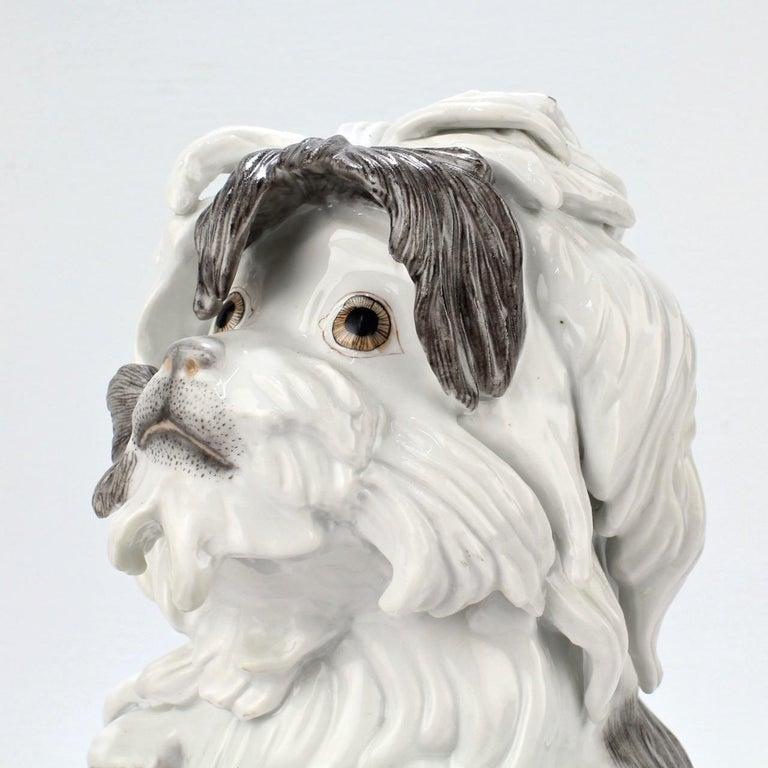 Fine Vintage Samson Porcelain Bolognese or Bichon Dog Figurine For Sale 3