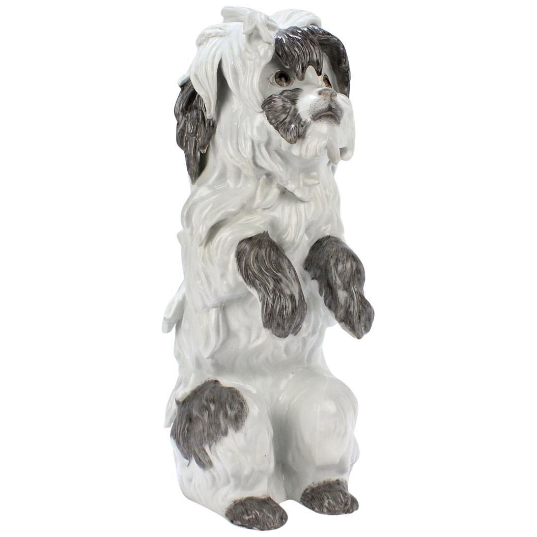 Fine Vintage Samson Porcelain Bolognese or Bichon Dog Figurine