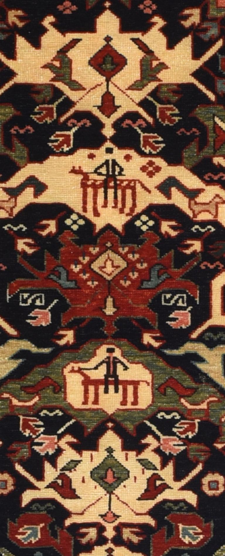 Other Fine Vintage Shirvan Russian Rug, Hand Knotted, circa 1950 For Sale