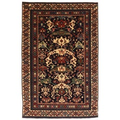 Fine Vintage Shirvan Russian Rug, Hand Knotted, circa 1950