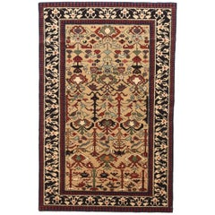 Fine Vintage Shirvan Russian Rug, Hand Knotted, circa 1970s