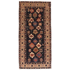 Fine Vintage Shriven Russian Runner Rug, Hand Knotted, circa 1950