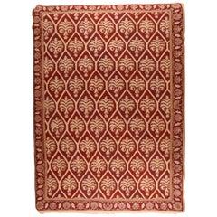 Fine Vintage Sumak Manchoria/Russian Rug, Flat-Weave Hand Knotted, circa 1970s